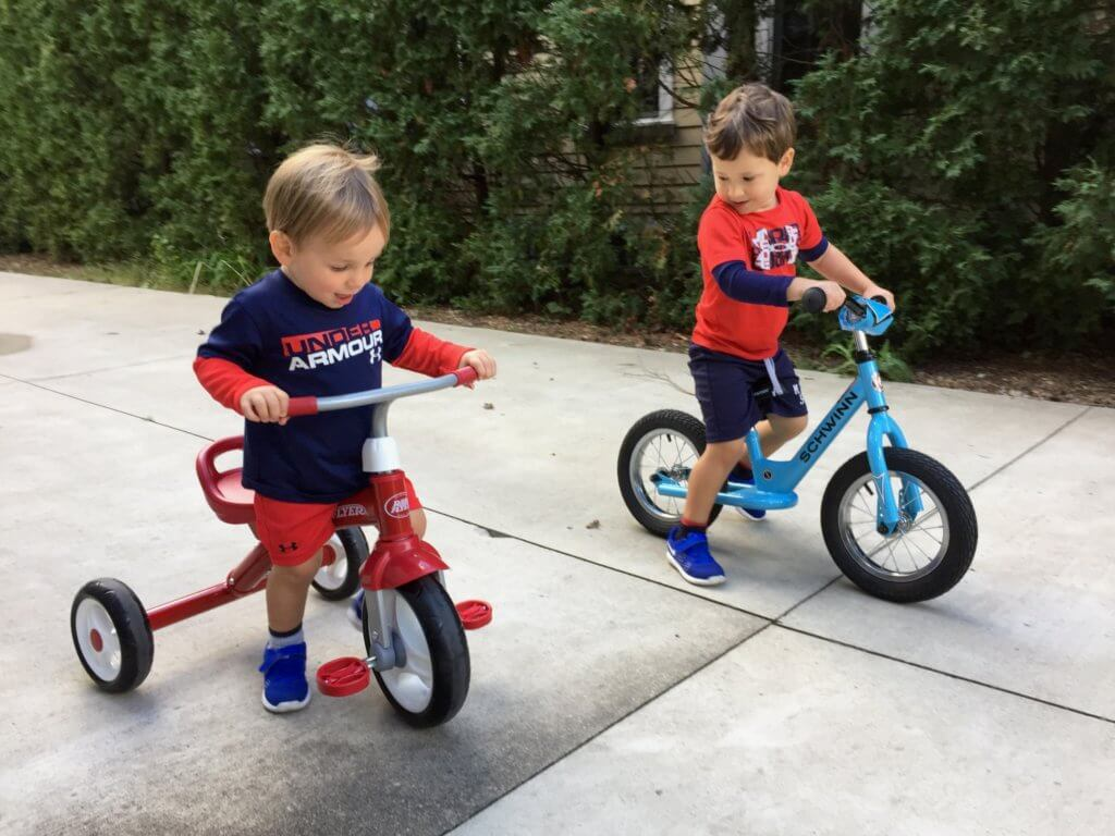 Don't let a slow bike ride fool you, these two are fast, and make me feel like I'm running a 100 yard dash multiple times a day!