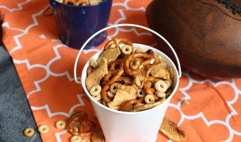 Combine the flavors of fall with this simple, crunchy apple peanut butter Cheerios snack mix. Made with Honey Nut Cheerios, dried apple chips, and peanut butter chips!