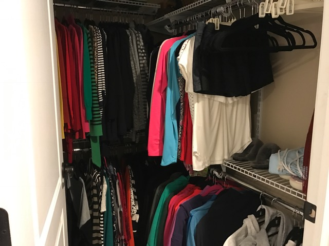 This is my closet after the purge. Clearly I have a lot of staples and things I can still wear. But I deserve a few new pieces too!