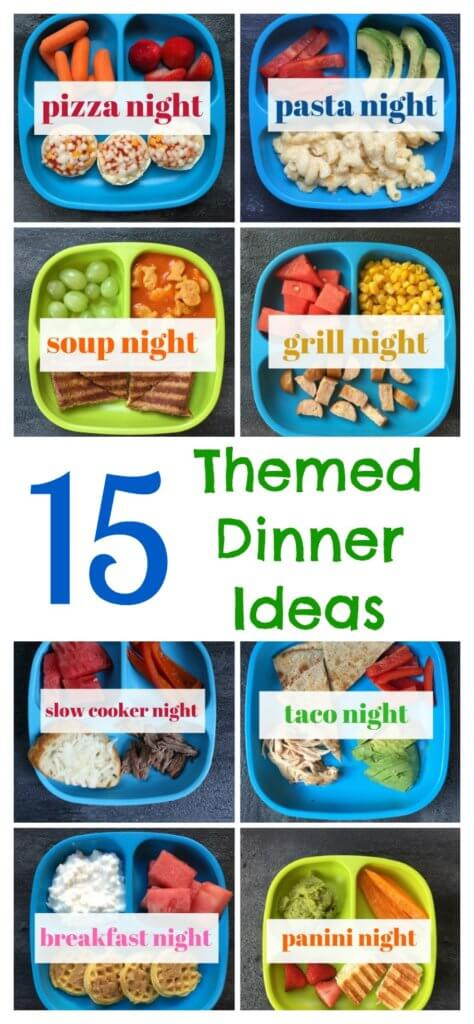 These themed dinner ideas make meal planning a breeze! By designating a certain theme to each night of the week, you can keep structure to your family's meal plan!