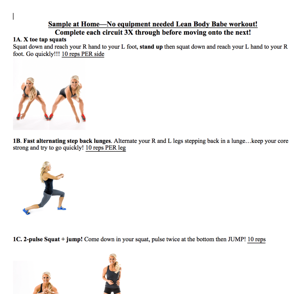 A screen-shot of one of Kelli's remote workouts. Click the link below to download your FREE copy of one of my favorites!