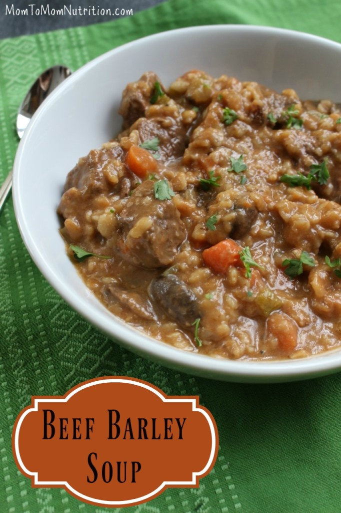 Beef barley soup is made with whole grains, tender pieces of beef, and lots of veggies, making it the perfect one-pot meal!