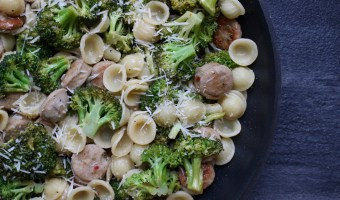 Skillet Orecchiette with Sausage and Broccoli