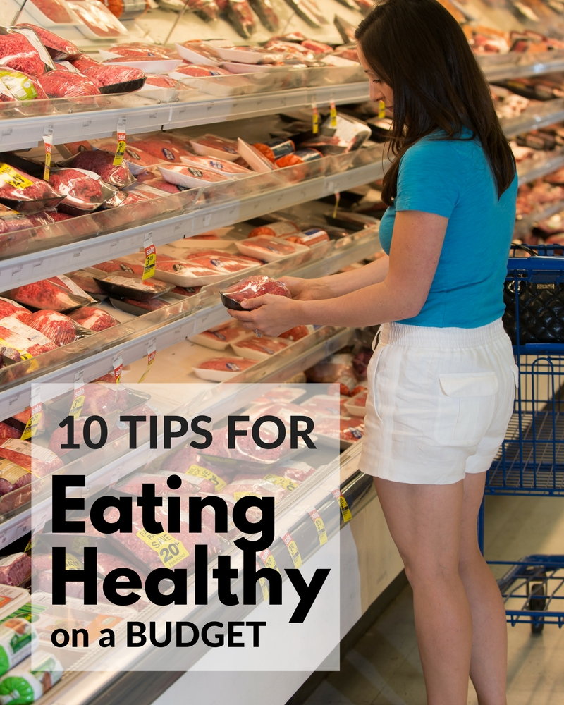 Eating healthy does not have to be expensive! Learn some tips and tricks to saving money at the grocery store and eating healthy at home.