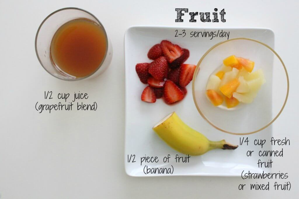 4 servings of fruit