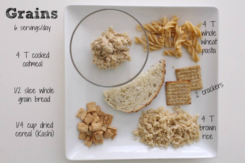 6 examples of grains.
