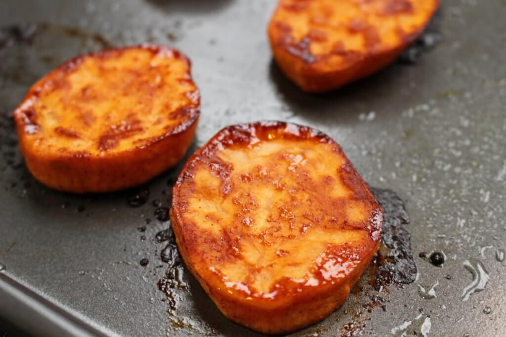 baked sweet potato rounds