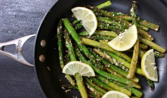Lemony Asparagus with Garlic and Parmesan