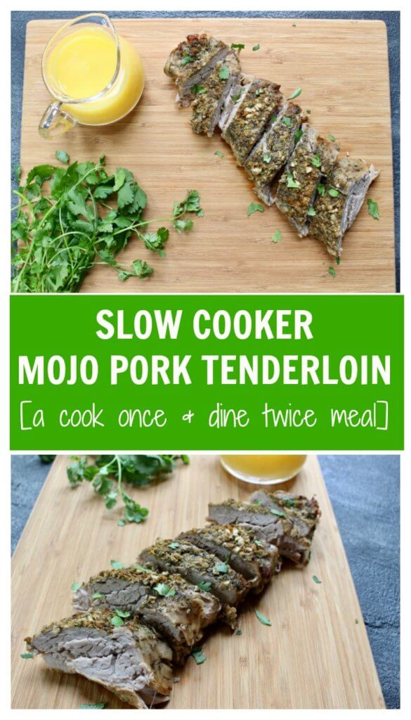 A Cuban-inspired mojo pork tenderloin with a fresh, flavorful sauce with Florida Orange Juice. Cooked right in your slow cooker with plenty of leftovers for more than one meal.