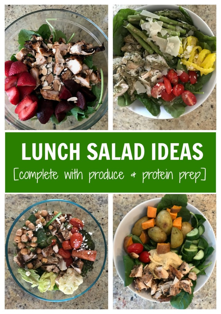 Making a salad doesn't have to be time consuming or complicated. Here are 5 simple lunch salads that are made even easier by prepping ingredients ahead of time.
