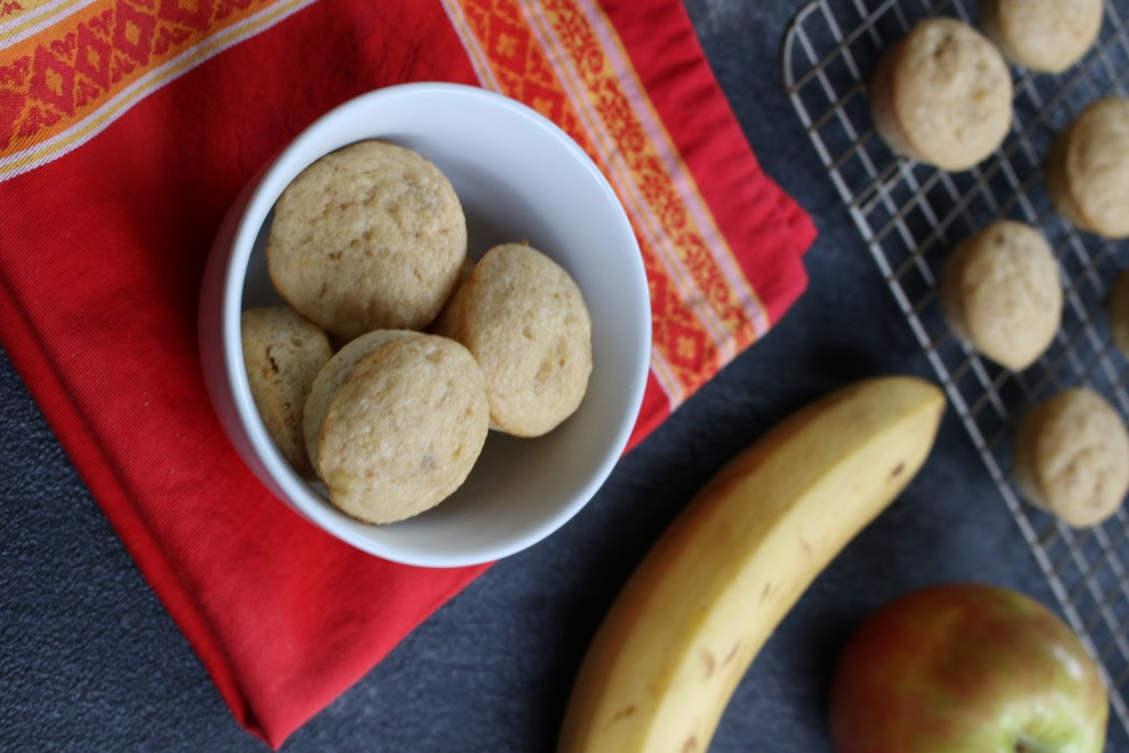 Apples and bananas make the perfect fruit combo in these applesauce banana muffins. A kid-friendly breakfast, snack, or lunchbox option!
