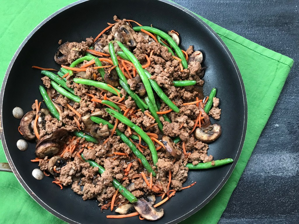 Add more vegetables to your family's diet with this veggie-packed beef stir-fry. Ready in just under 25 minutes with plenty of fresh veggies to add to this one-pan meal!