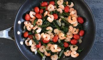 Shrimp Florentine Skillet