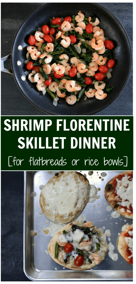 From a flatbread to a bowl with brown rice, this shrimp Florentine skillet makes the perfect, flavorful meatless meal.