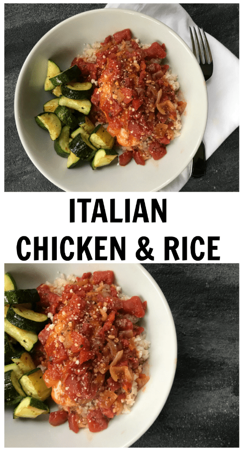 Italian chicken and rice is quick, easy, budget-friendly, and a one-pan meal that makes weeknight dining manageable.