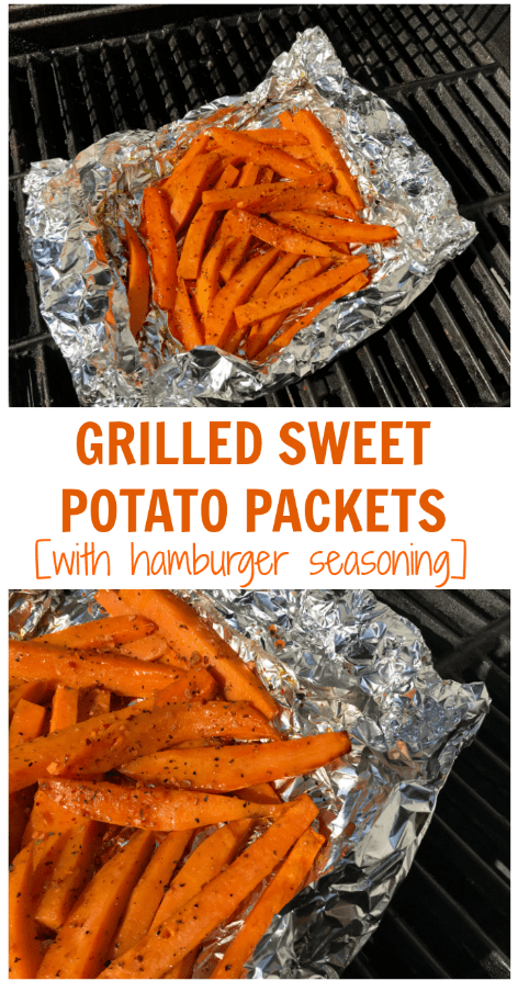 Grilled sweet potato packets make the easiest and healthiest side dish for any BBQ, party, or weeknight meal. Minimal clean-up is a big plus!