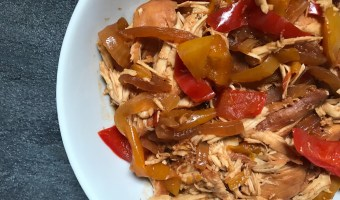 Made with pantry staples and store-bought sauces, Slow Cooker BBQ Chicken with Peppers and Onions is one weeknight dinner you can't pass up.