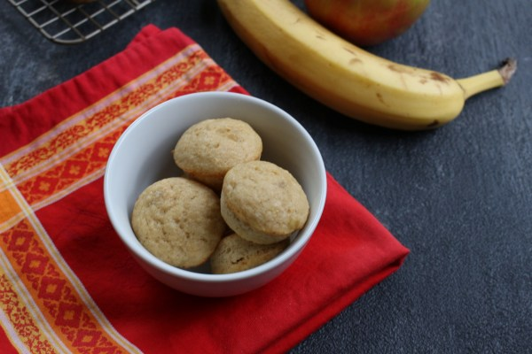Applesauce and banana muffins.