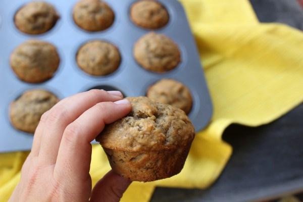 Easy banana bread muffins.
