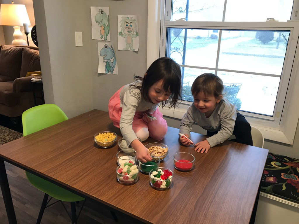 A Christmas Cookie Decorating Station is a simple, fun holiday-inspired activity for kids of all ages. Assemble the station based on your family's preferences for cookies, frosting, and toppings!