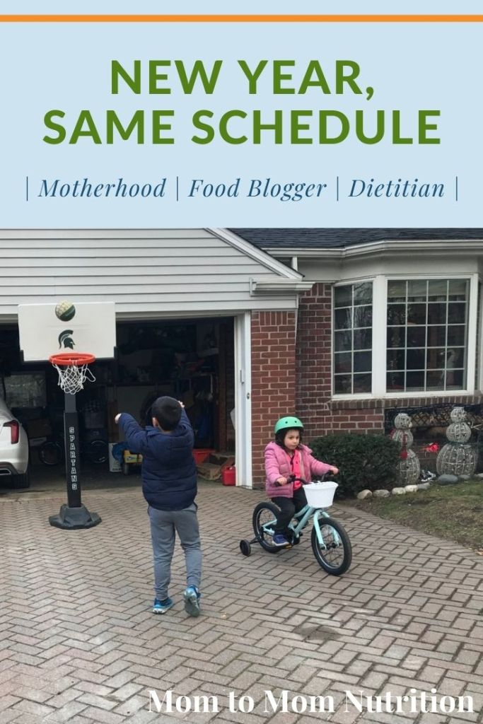 New year, same schedule when it comes to co-parenting our four young children. Take a look at our at-home and work schedules.
