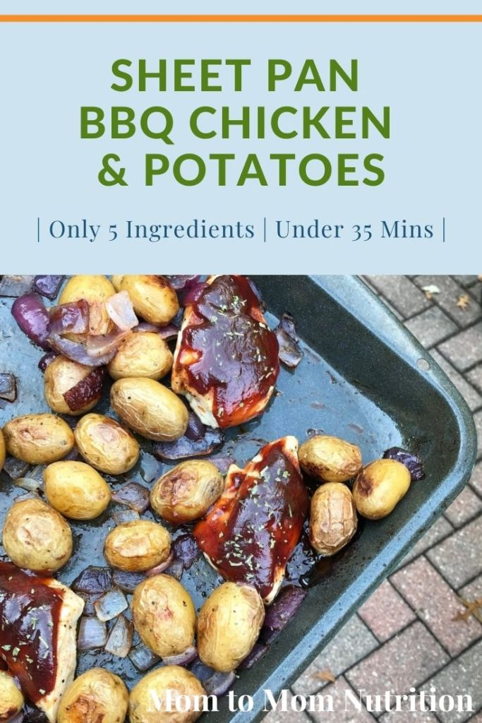 Sheet Pan BBQ Chicken and Potatoes is a weeknight dinner sure to become a family favorite. Ready in 30 minutes and the easiest post mealtime clean-up!