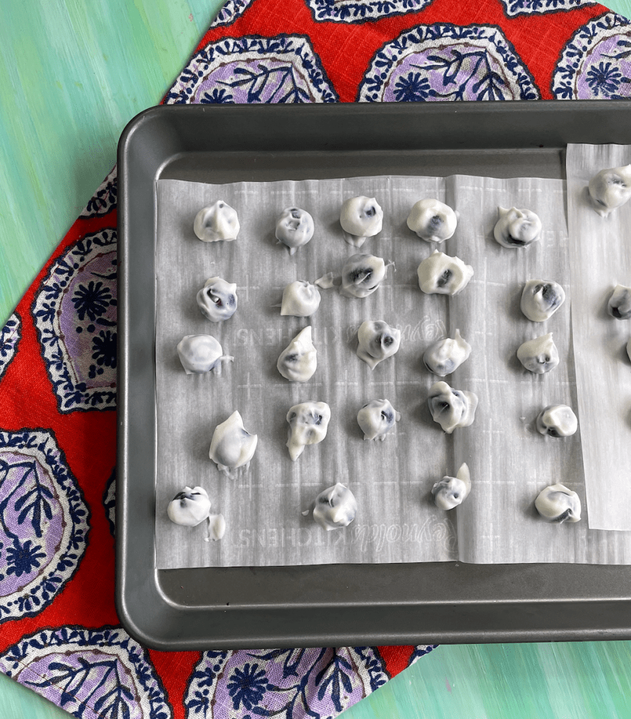 These frozen yogurt blueberry bites are a nutritious treat made with just two ingredients. The best part? They appeal to the whole family!