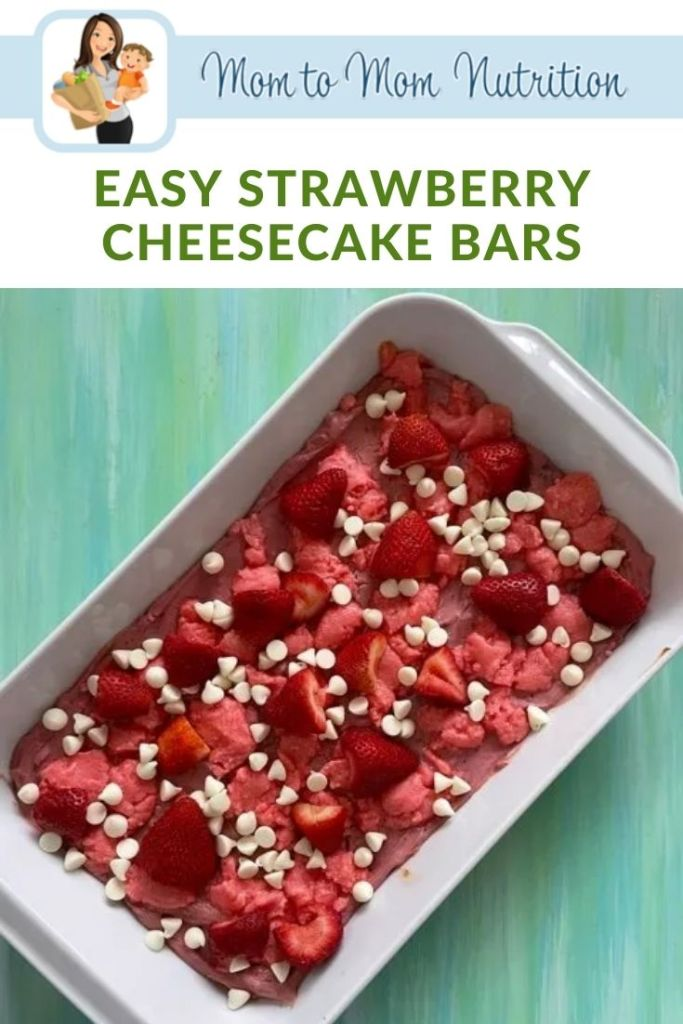 Easy Strawberry Cheesecake Bars are a semi-homemade sweet treat for all ages! A few store-bought ingredients and no cheesecake setting and baking involved.