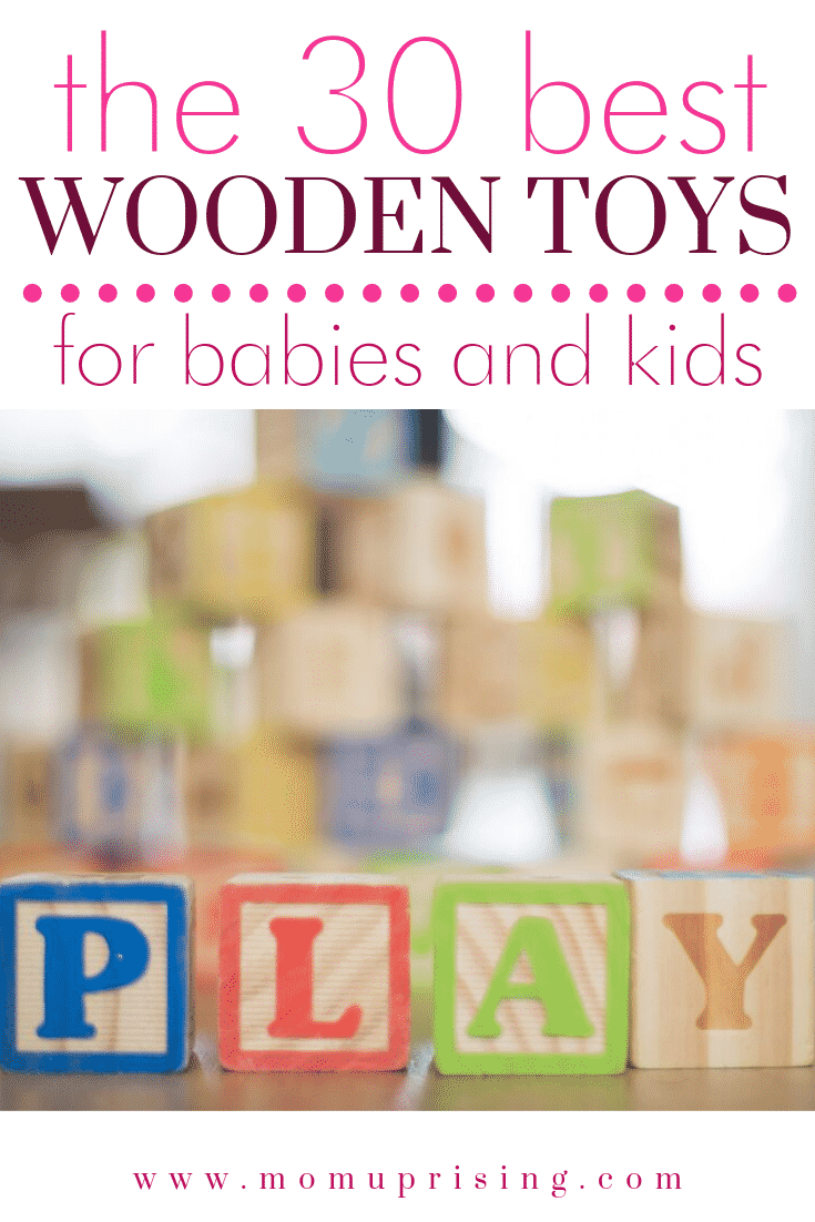 Whether you are looking for eco-friendly, minimalist, or just fun toys for your kids, these 30 are your best bet. This is our list of the 30 best wooden toys for babies and kids. This list includes the best Waldorf toys, Montessori Toys, Wooden Toys, Melissa and Doug toys, and more!