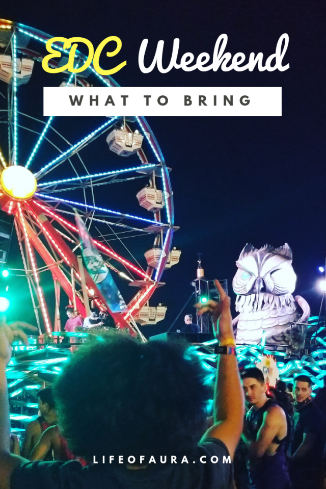 Make sure you don't forget something you need! Check out this checklist with a free printable included! #EDC #EDCLV2018 #festivalseason #electricdaisycarnival #checklist #freeprintable #printable