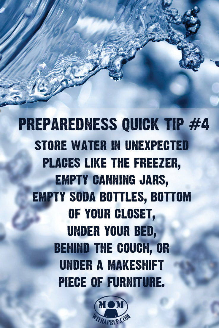 Think that big ugly water jugs lining your hallway is the only way to store water? Find unexpected places to store water for an emergency! You might be surprised!
