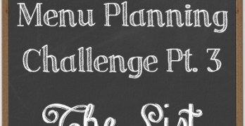 Build a Better Pantry: The Menu Planning Challenge pt3 {The List}