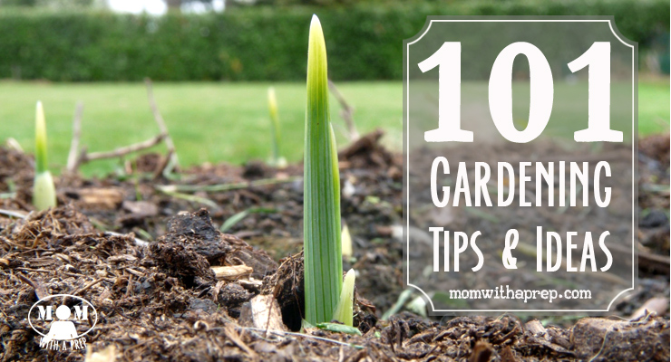 Mom with a PREP | 101+ Gardening Ideas & Tips - from planning to planting to growing to harvesting, ideas and tips for you to grow your own food and be more self-reliant