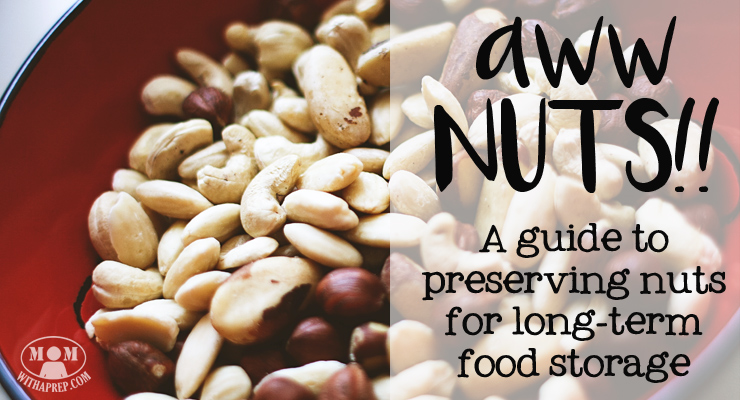 Nuts & Seeds can be a viable option for protein & other nutrients. Learn to roast, grind, dehydrate and store them for long-term storage. // Mom with a PREP