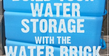 Build Your Water Storage with the Water Brick
