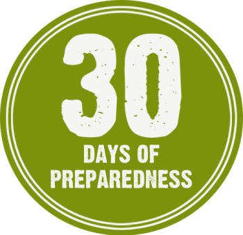 September is National Preparedness Month - join in with Ready.gov and other agencies and blogs and learn to be more prepared for your family! #NatlPrep #30days30ways #beprepared
