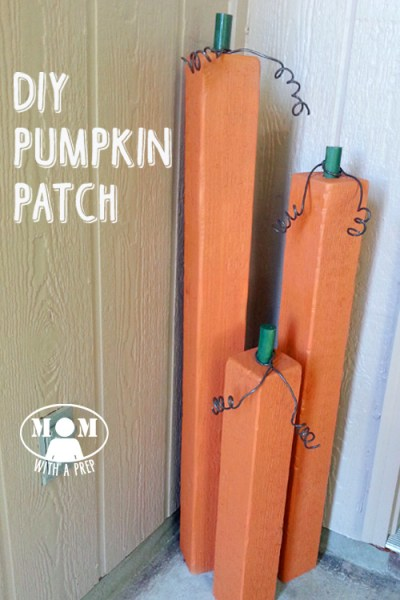 Self Reliant Kids - teach your children how to use tools properly, then have them help create fall decorations like this DIY Pumpkin Patch @ MomwithaPREP.