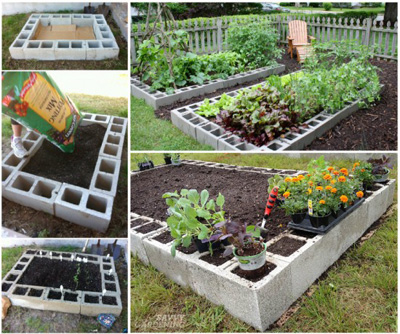 25+ DIY Cinder Block Projects for Your Home @ Momwithaprep.com | Project from Savvy Gardening