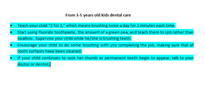kids dental care 2019