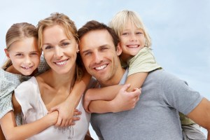 happy parents and happy kids