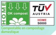 Etiquette officielle compostable en compostage domestique