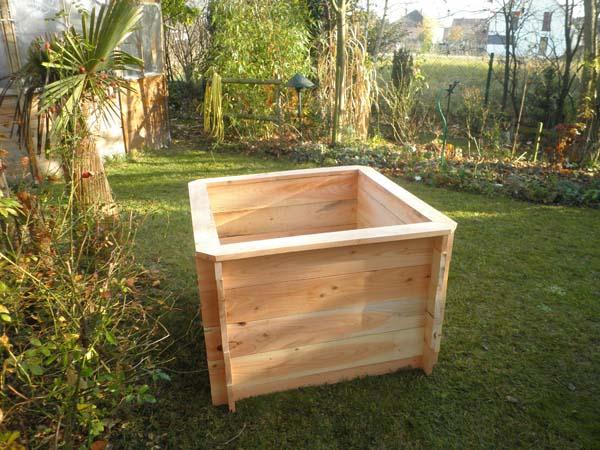 bac potager carre h 67 5 cm 100x100 en bois montage par emboitement