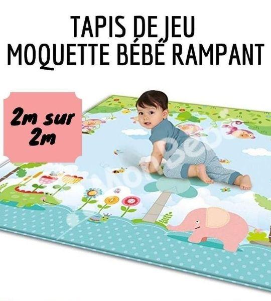 tapis de jeu moquette bebe rampant