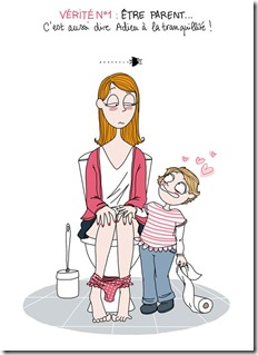 Maman aux toilettes - Mon burn out parental - épuisement parental - Subir la situation