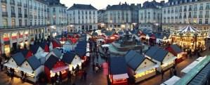 Chalet origine France sur le marché de noël de Nantes