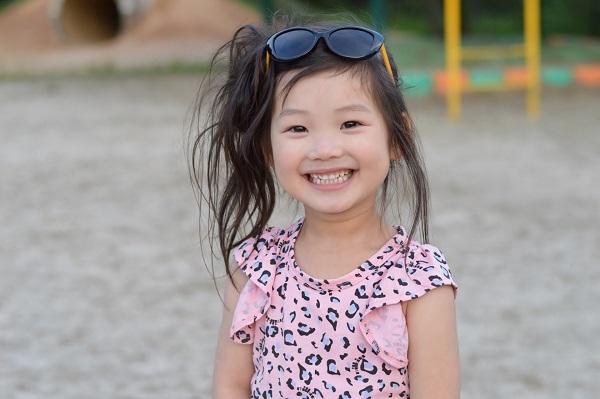 保育園児の笑顔