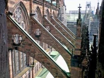 Arcs-boutants cathédrale de Strasbourg