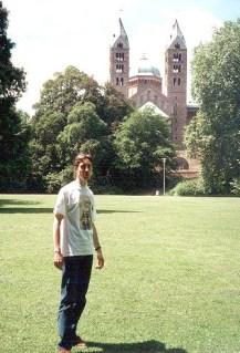 Devant la cathédrale de Spire (Allemagne)