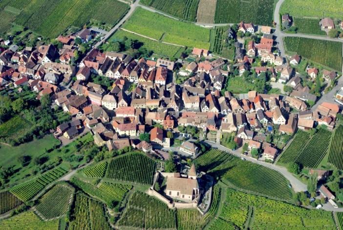 survolé la route des vins d'Alsace
