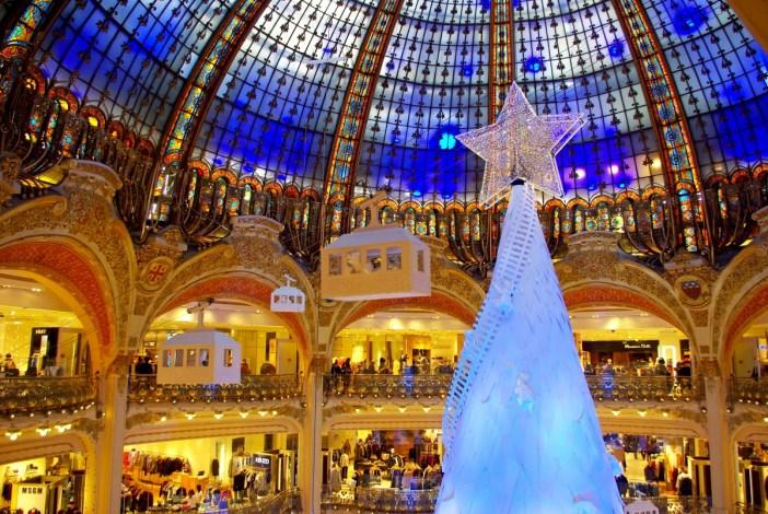 Sapin Noël Galeries Lafayette Paris